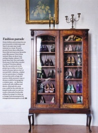Glass Cabinet as a Shoe Wardrobe