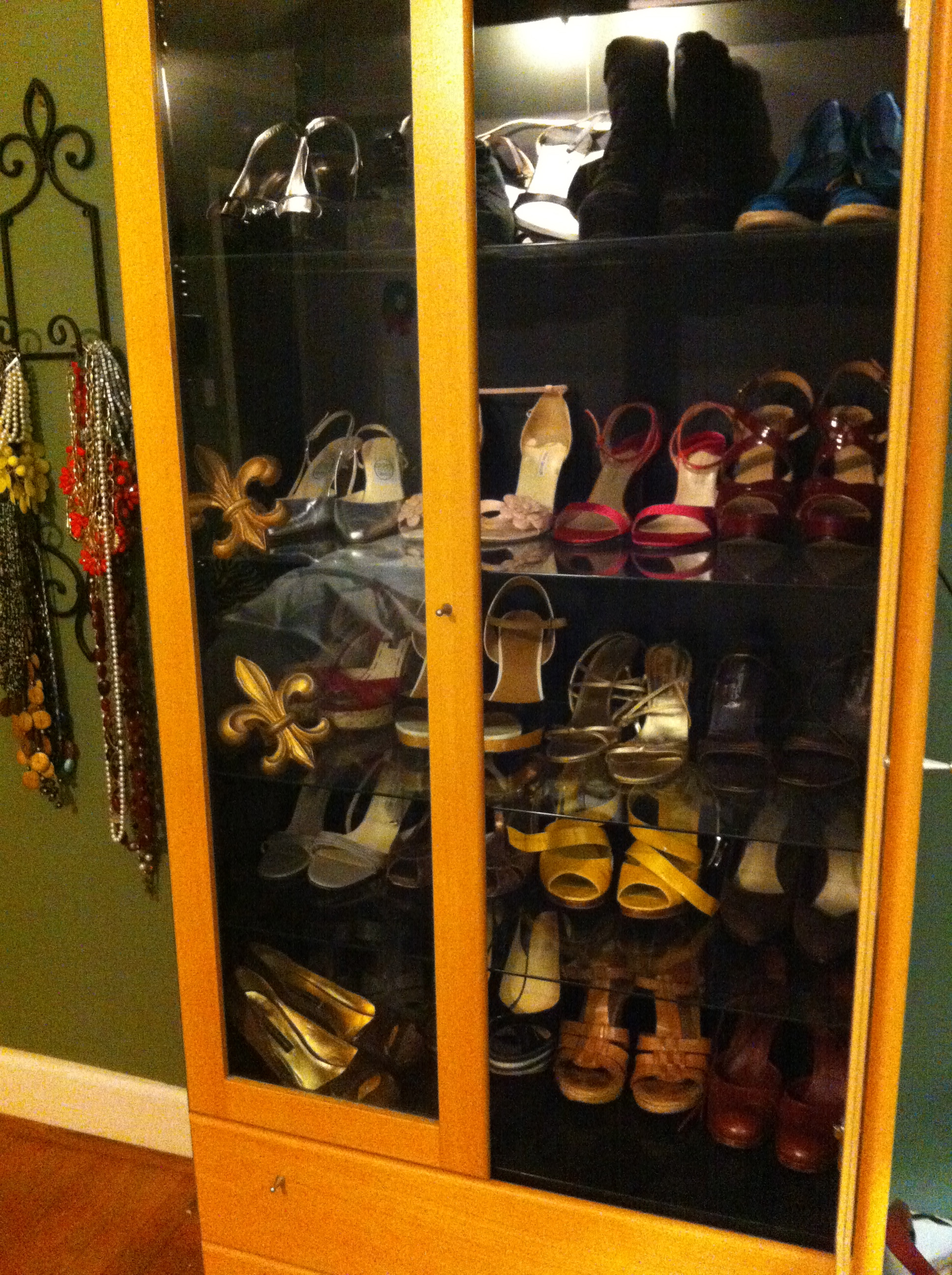 My Glass Cabinet as a Shoe Wardrobe